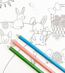 This page has 20 easter coloring pages to choose from and the cool part is they are not hidden. Printable Easter Bunny Coloring Page Pineapple Paper Co