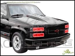 95-00 Chevrolet Tahoe-Dual LED Halo Rings Headlights Bulbs