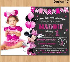 Minnie Mouse Invitation Design Best Minnie Mouse 1st Birthday Invitations Designs Ideas