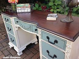 repurposed office furniture. Antique TwoToned Desk Repurposed Office Furniture