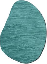 odd shaped blue wave dune textured modern