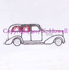 Gothic Machine Embroidery Designs Hearse Hand Embroidery Pattern Halloween Car Vintage