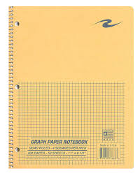 1 Subject 4x4 Quad Paper Notebook Columbus State Bookstore