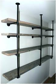 industrial wall shelves medium image for rustic shelf brackets shelving systems garages full size