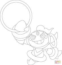 Coloring Page Astonishing Pokemon Coloring Page Hoopa Free