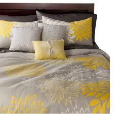 Anya 6 Piece Floral Print Duvet Cover Set - Gray/Yellow- A ... & Anya 6 Piece Floral Print Duvet Cover Set - Gray/Yellow- A possibility for Adamdwight.com