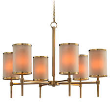 modern classic brass tall drum shade chandelier kathy kuo home view full size