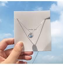 <b>OBEAR</b> silver Plated <b>Mermaid</b> Tears Foam Necklace Simple ...