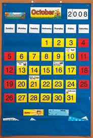 Yellow Calendar Pocket Chart Calendar Pocket Chart
