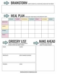Weekly Meal Planer 20 Meal Planning Templates That Will Melt The Stress Away