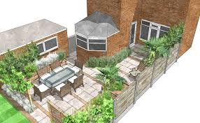Small Picture Garden Design Plan by Sally Bishton SketchUp by Gaynor Witchard