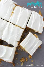 pumpkin crunch cake at gingersnapcrafts