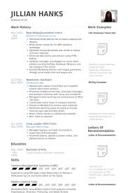 Journalism Resume Template Journalism Resume Samples Visualcv Resume