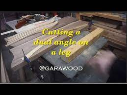 cutting a double angle on a furniture