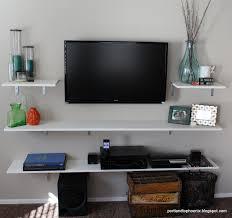 Floating Shelves Around Tv Pdx To Phx Diy Tv Shelves Bunk Bed Pinterest Tv Shelf Diy