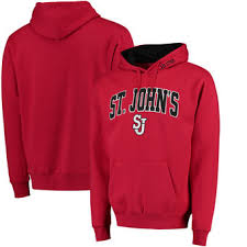 york university hoodie. st. johns red storm arch \u0026 logo pullover hoodie - york university