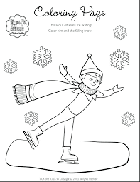 Elf Coloring Page Girl Scout Brownie Elf Coloring Page Free Coloring