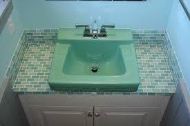 bathroom countertop tile ideas. Hello Retro Modwalls Colorful Modern Tile Since Lush 1x2 Subway Santa Monica Countertop By. Girl Bathroom Ideas