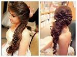 Indian wedding hairstyles for long hair half up 2017