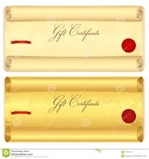 gift certificate voucher template wax seal royalty stock gift certificate voucher template old scroll pa stock photography
