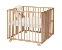 best easily transportable baby playpen babydan medium wooden beech playpen