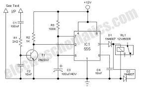 clock alarm light switch circuit quartz controlled bedroom automatic light switch circuit schematic