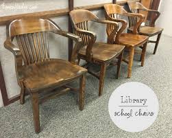 vintage library wood chairs img 0258