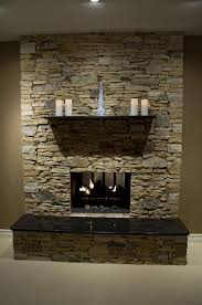 modest stone veneer fireplace cool gallery ideas