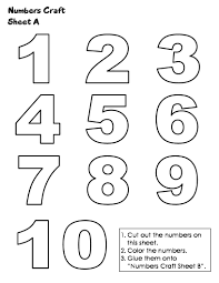 number templates 1 10 black and white numbers 1 10 printables pinterest coloring