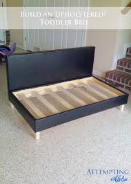 Diy Toddler Bed Attempting Aloha Diy Upholstered Toddler Bed Couch Plans