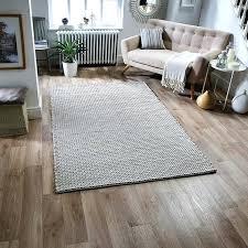 felted wool rug grey