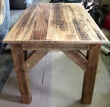 homemade barn wood desk for mice s studio
