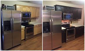 Kitchen Cabinet Espresso Color Diy Painting Kitchen Cabinets Before And After Pics