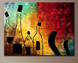 deco vino abstract art painting image by carmen guedez