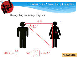 answers 2 using trig in every day life
