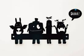 Nursery Coat Rack Monsters Coat Rack Kids Wall Hanger Nursery Wall Hooks Metal Coat 21