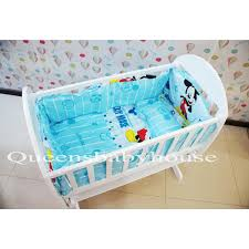 baby cradle blue mickey mouse bedding set 49 x 89cm malaysia