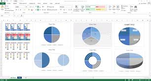 Excel To Pie Chart Excel Template Blue Pie Charts Templates Forms