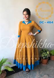 Collar Style Neck Design Dc 464 Anarkali In Collar Style With Blue Open Collar And