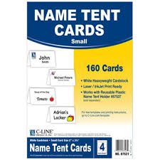 name tent c line small scored white name tent cardstock 5 boxes
