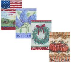 garden banners. Set Of 4 Seasonal Garden Banners With Stake By Valerie