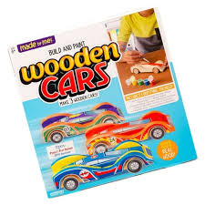 made by me 21136a build paint your own wooden cars 3 pieces