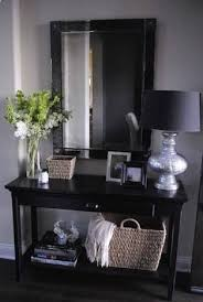 hallway table and mirror. Love The Simplicity Of This Entry Hallway, Table + Mirror Vase Lamp Frames Basket W Blanket Hallway And O