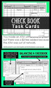 Order Check Registers Balancing A Check Register Interactive Notebook Middle School Math