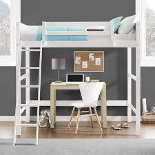Your Zone Collection Twin Wood Loft Bed, Multiple Colors - Walmart.com