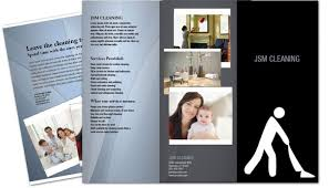 Cleaning Brochure Tri Fold Brochure Template For Cleaning Hospitality Services
