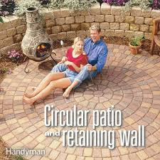 build a circular patio and retaining