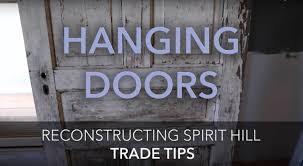 how to build a door frame to hang or install old or antique doors trade tips