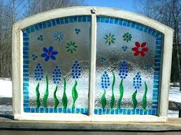 glass paint for windows painting on old glass windows painted old window spring window painting designs