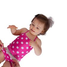 Baby Girls Bathing Suits - Polka Dot - FAST and EASY Diaper Changes ...